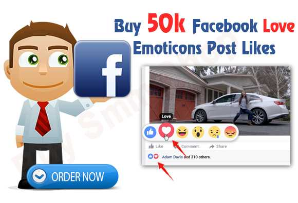 Buy Facebook Love Emoticons Post Likes