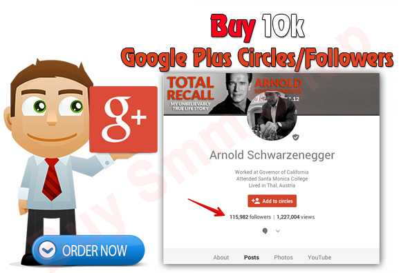 Buy Google Plus Circles/Followers