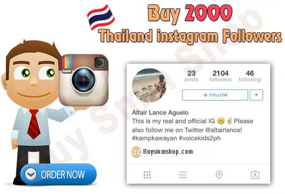 Buy Thailand Instagram Followers