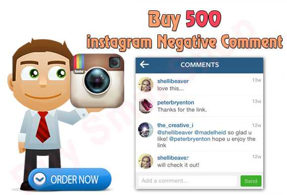 Buy Negative Instagram Comments